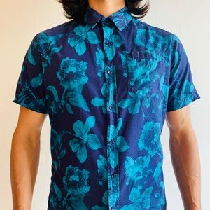 Carbon Hawaiian button down